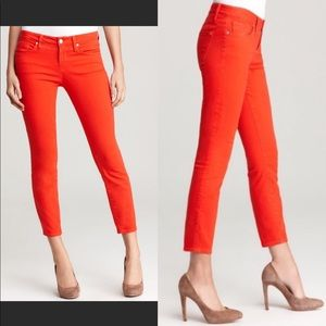 Marc by Marc Jacobs Lola Crop Workwear Red Jeans